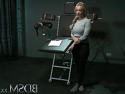BDSM XXX Slave girl with breasts gets it hard with orgasm