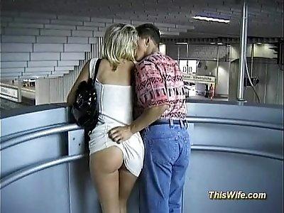 Train fucking with nasty wife