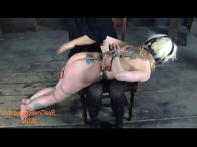 Painful clamping for beautys melons