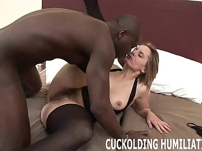 Watch me try to choke down his massive black cock
