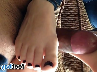 Footjob By My Girlfriend Point Of View