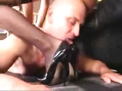 Mistress Natalie Footjob Heeljob