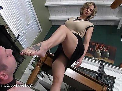 Office FootBitch Milking