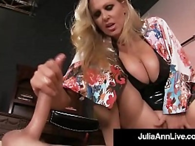 Boy Toy Gets Smothered By Glamorous Milf Julia Anns Pussy!