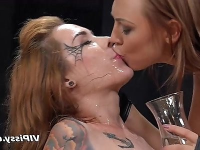 Cosplay girls lesbian golden showers