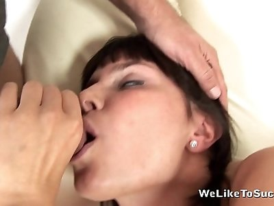 Pissing right after giving a blowjob