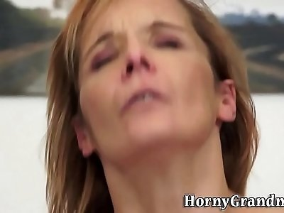 Granny gets all her holes fucked