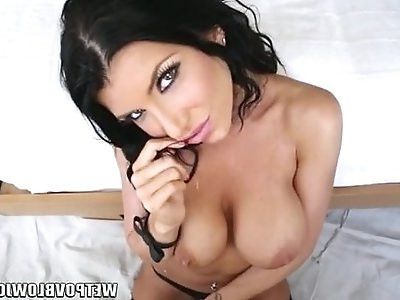 Tattooed Romi Rain POV cock teasing