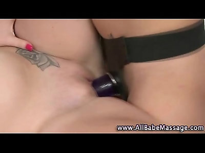 Lesbian massage toy lovers