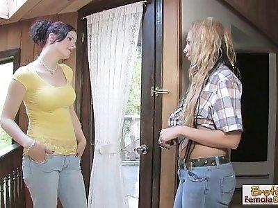 Lesbian MILFs make each other cum hard