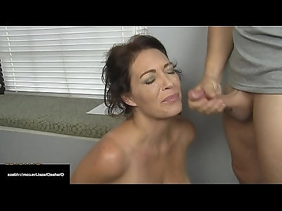 Husbands Employer Gets Milf Charlee Chase To Suck His Cock!