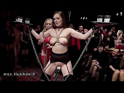 Orgy bdsm slave training in the upper floor