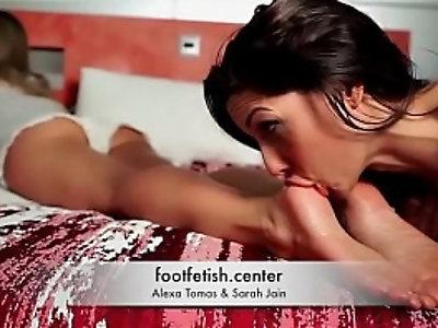 Foot Fetish Forced Worship Alexa Tomas Sarah Jain