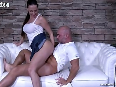 Brutal hardcore ass fuck session with Mea Melone Christian Clay