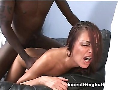 Black stud fucks a milf before going to the office