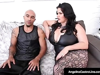 Thick cuban angelina castro and king noire fuck milf sara jay