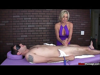 Blindfolded and Teased Brad Eventually Gets A Happy Ending