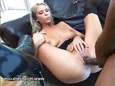 Blond cutie plays with horny sexy natural tits fuck by BBC