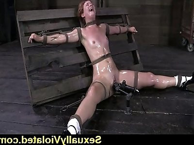 Claire Robbins tied down hard of