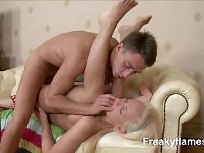 Petite amateur Whore eager to swallow last drop of cum face