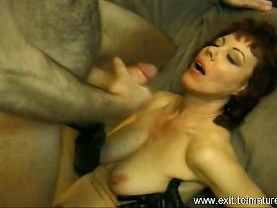 Milf Sucking Facialized and Squirting