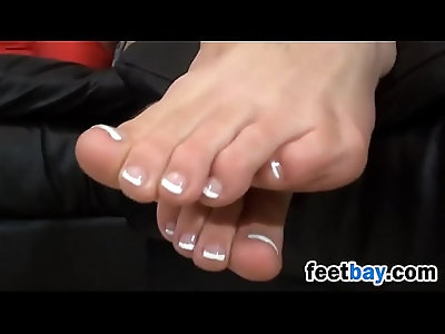 Nerdy Student Shows Off Her Beautiful Feet